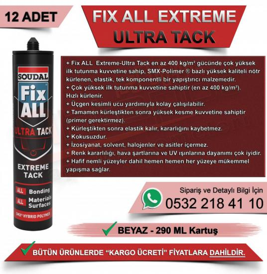 SOUDAL FIX ALL EXTREME-ULTRA TACK YAPIŞTIRICI 290 ML (12 ADET)